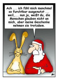 Geschenk, Glaube, Weihnachtsmann, Osterhase