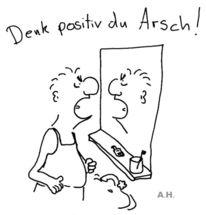 Positiv, Gesäß, Denk, Illustrationen