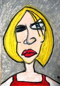 Lehrerin, Blick, Böse, Illustrationen