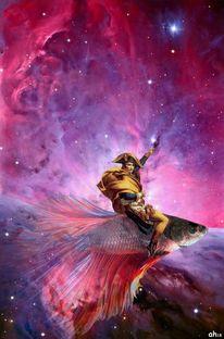 Kampffisch, Stern, Pink, Orion nebel