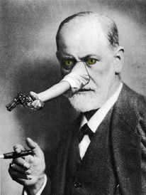 Pistole, Nase, Fehler, Freud