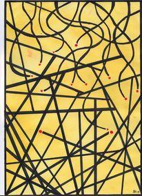 Geometrie, Rote augen, Zeichnungen,