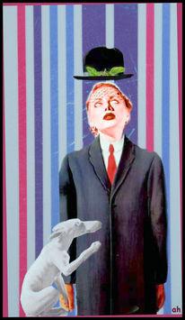 Fahne, Menschen, Frühstück, Magritte