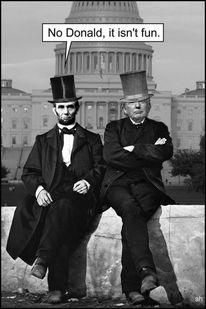 Capitol, Lincoln, Trump, Mischtechnik