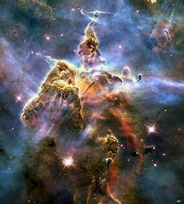 Universum, Bearbeitung, Nebel, Stern
