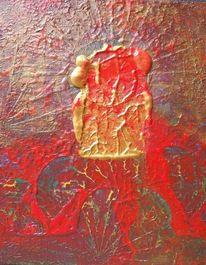 Dreibein, Malerei, Satisfaktion, Frust