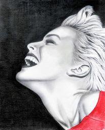 Nacht, Profil, Lachen, Malerei