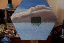 Insel, Malerei, Unwetter