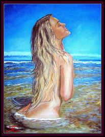 Menschen, Blond, Meer, Urlaub