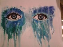Trauer, Sehnsucht, Blick, Malerei