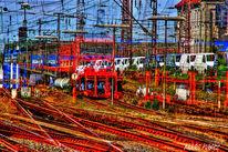 Reise, Verkehr, Zug, Güterzug