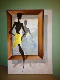 3d, Acrylmalerei, Unicat, Malerei