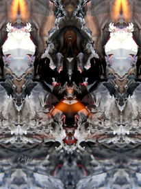 Spiegelung, Glut, Flammen, Mystik
