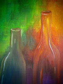 Stimmung, Glas, Flasche, Bunt