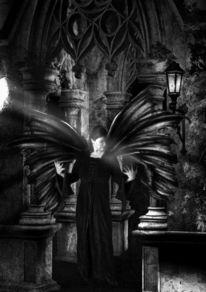 Dark side, Schwarz, Engel, Fotografie