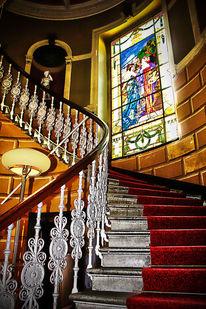 Treppe, Fenster, Stufe, Digitale kunst