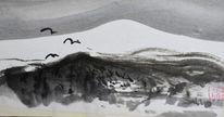 Schnee, Berge, Vogel, Winter