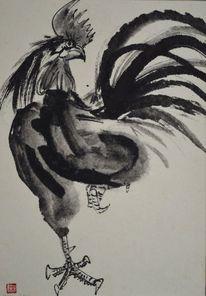 Sumi, Zeichnung, Japantusche, Japanpapier