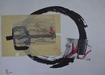 Collage, Sumi, Zen, Kreis