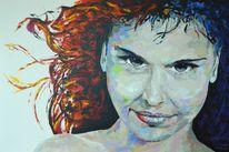 Gemälde, Portrait, Malerei, Acrylmalerei