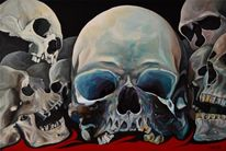 Acrylmalerei, Abstrakt, Portrait, Gemälde