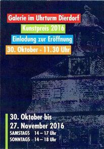 Malerei, Zeitgenössische kunst, Kunstpreis 2016, Pinnwand