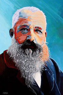 Portrait, Zeitgenössisch, Acrylmalerei, Pop art