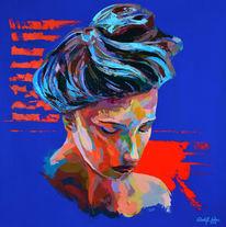 Porträtmalerei, Spachteltechnik, Malerei, Acrylfarben