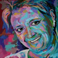 Acrylmalerei, Portrait, Gemälde, Malerei