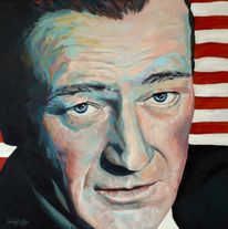 Hollywood, Portrait, John wayne, Prominent