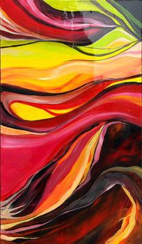 Abstrakt, Blumen, Feuer, Rot