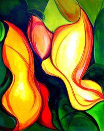 Farben, Feuer, Abstrakt, Blumen