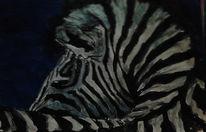 Aquarellmalerei, Zebra, Aquarell