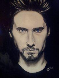 Malerei, Portrait, Acrylmalerei