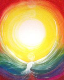 Frieden, Farben, Strahlen, Regenbogen