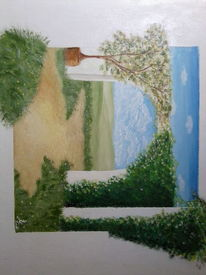 Acrylmalerei, Landschaft, Malerei, Natur