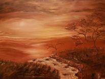 Braun töne, Ölmalerei, Landschaft, Malerei