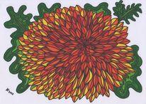 Dahlie filzstift, Zeichnungen