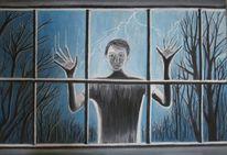 Blau, Fenster, Wald, Ausgeschlossen