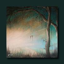 Malerei, Lichtblicke, Schaukel