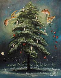 Weihnachtsbaum, Goldfisch, Stern, Unetrwasser