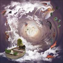 Wolken, Fantasie, Traum, Frau