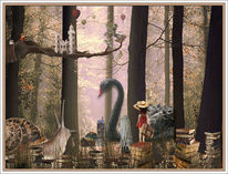 Landschaft, Geschichte, Ballon, Wald