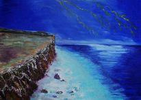 Meer, Blitzen, Ufer, Malerei