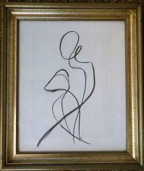 Frau, Stolz, Zeichnungen, Madame