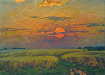 Sommer, Russisch, Impressionismus, Landschaft