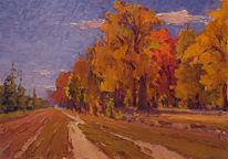 Baum, Impressionismus, Herbst, Malerei