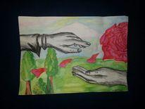 Natur, Herz, Farben, Halt