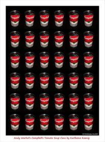 Popart, Andy warhol, Campbells, Pop