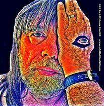 Hand, Selbstportrait, Portrait, Augen